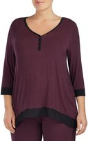 Donna Karan Plus Jersey & Chiffon Sleep Top