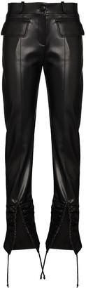 ALEKSANDRE AKHALKATSISHVILI Front-Slip Straight-Leg Trousers