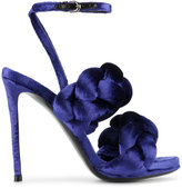 Marco De Vincenzo Blue braided ankle strap sandals