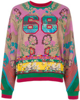 Etro sequin patterned 68 jumper - women - Cotton/Polyester - 42