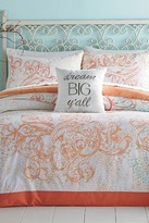 Jessica Simpson Ombre Scroll Full/Queen Comforter 2-Piece Set - Coral/Blue
