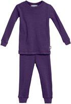 City Threads Rib Snug Fit PJ Set (Baby) - Purple-3-6 Months