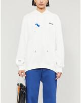 Ader Error Logo-print cotton-jersey hoody