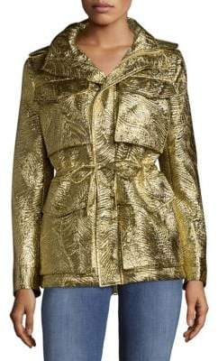 DSQUARED2 Stand Collar Drawstring Coat