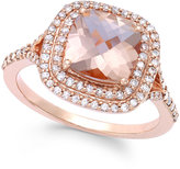 Effy Blush by Morganite (1 7/10 ct. t.w.) and Diamond (3/8 ct. t.w.) Ring in 14k Rose Gold