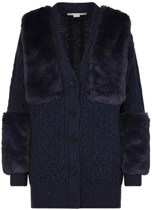 Stella McCartney Fur Panelled Cardigan