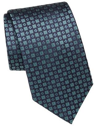 Brioni Geometric Print Silk Tie