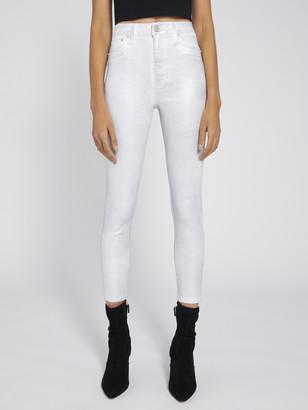 Alice + Olivia Good High Rise Foil Skinny Jean