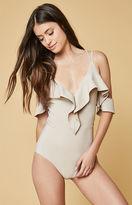 Oh My Love Frill Trim Bodysuit