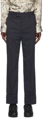 Opening Ceremony Navy Wool Stripe Trousers