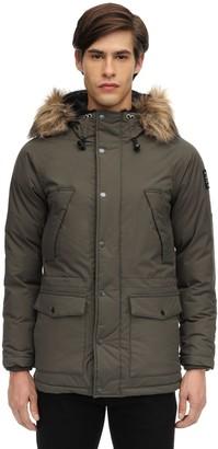 Schott Arctica Nylon Jacket W/ Faux Fur