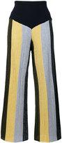 Circus Hotel glitter striped palazzo pants