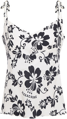 ALEXACHUNG Floral-print Woven Camisole