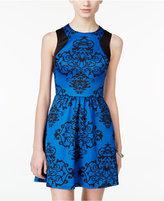 B. Darlin Juniors' Printed Fit & Flare Scuba Dress