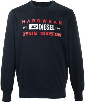 Diesel Hardware Denim Divisin sweatshirt