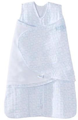 Halo2Cloud HALO SleepSack Swaddle, 100% Cotton Muslin, Turquoise Circles, Newborn