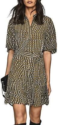 Reiss Ottoline Spotted Mini Dress