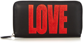 Givenchy Love-print leather zip-around wallet