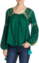 Kas Embroidered Peasant Blouse