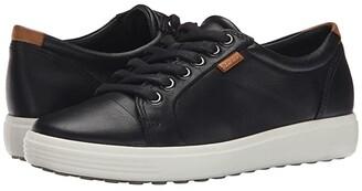 Ecco Soft 7 Sneaker (Silver Grey Metallic) Women's Lace up casual Shoes