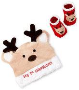 Little Me Infants) Reindeer Hat & Booties Set