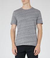 Reiss Reiss Parone - Marl Cotton T-shirt In Blue