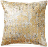 "Donna Karan Rhythm Beaded Ivory 16"" Square Decorative Pillow Bedding"