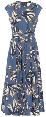 S Max Mara Fido floral cotton-poplin midi dress