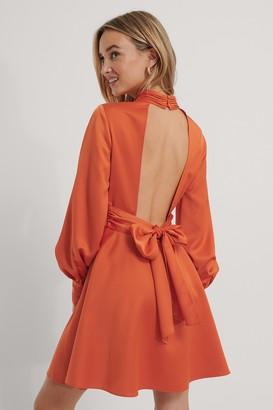 The Fashion Fraction X NA-KD Open Back Satin Dress