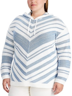 Chaps Plus Size Hooded Sweater
