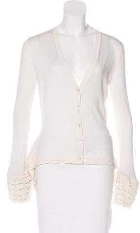 Alexander McQueen Wool & Silk-Blend Cardigan