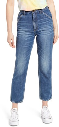 Lee High Waist Crop Carpenter Jeans