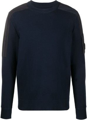C.P. Company Shoulder-Patch Crew Neck Sweater