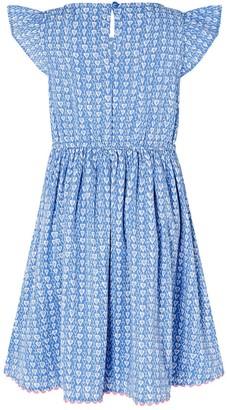 Monsoon Girls S.E.W. Printed Heart Dress - Blue