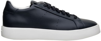 Santoni Blue Leather Sneaker
