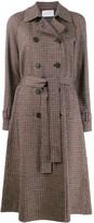 Harris Wharf London check print trench coat