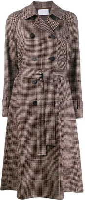 Harris Wharf London Check Print Trench Coat