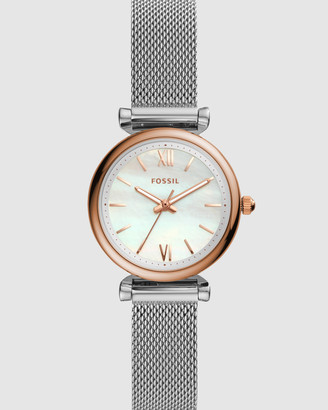 Fossil Carlie Silver-Tone Analogue Watch