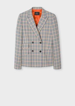 Paul Smith Women's Double-Breasted Check Blazer