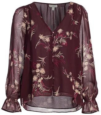 Joie Lindie Floral Silk Blouse