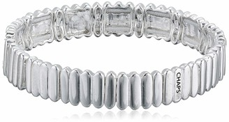 Chaps Women's Silver Tone Metal Stretch Bracelet One Size