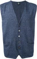 Eleventy sleeveless cardigan - men - Cotton - L