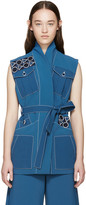 Peter Pilotto Blue Embroidered Safari Vest