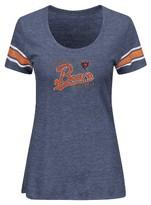 NFL® Women's Short Sleeve Heather Tri-blend Scoop Neck T-Shirt