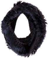 Scoop Loop Scarf With Rabbit Fur