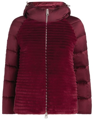 Herno Faux Fur Quilted Jacket