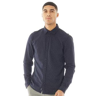 clear Blend Mens Long Sleeve Shirt Peacoat Blue