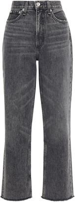 Rag & Bone Faded High-rise Straight-leg Jeans