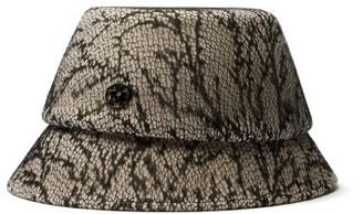 Maison Michel Souna Lace-covered Felt Bucket Hat - Womens - Cream