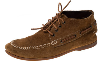 DSQUARED2 Brown Suede Leather Lace Up Boots Size 40